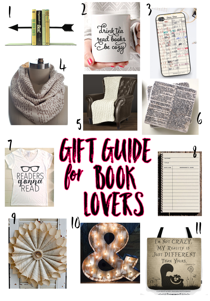 Have a Book Lover in your life and wondering what to get them for the holidays?? Check out my Gift Guide for Book Lovers!