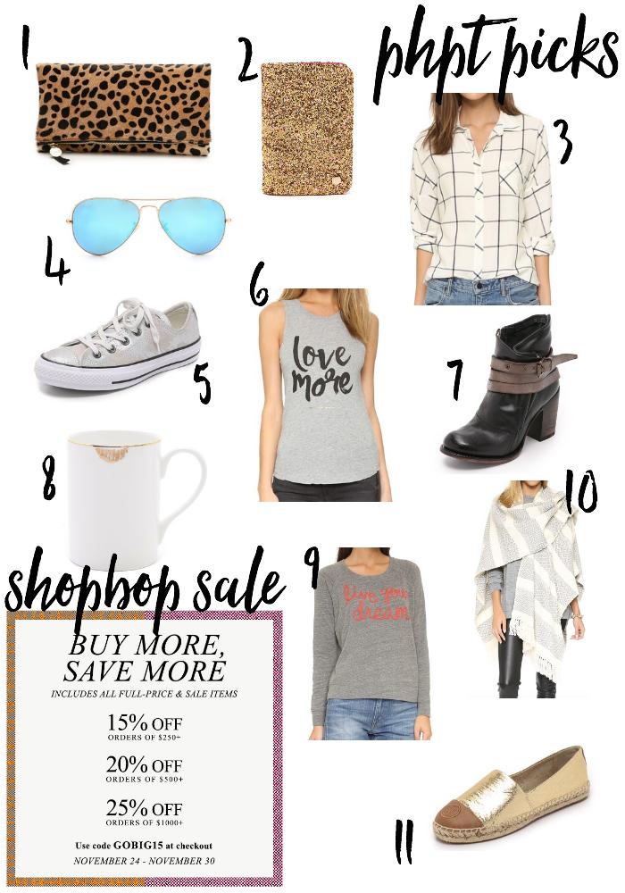 ShopBop GOBIG15 Sale (November 24 - 30, 2015) Save up to 25% off!