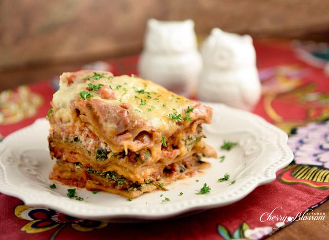 Cherry Blossom Kitchen Veggie Lasagna2