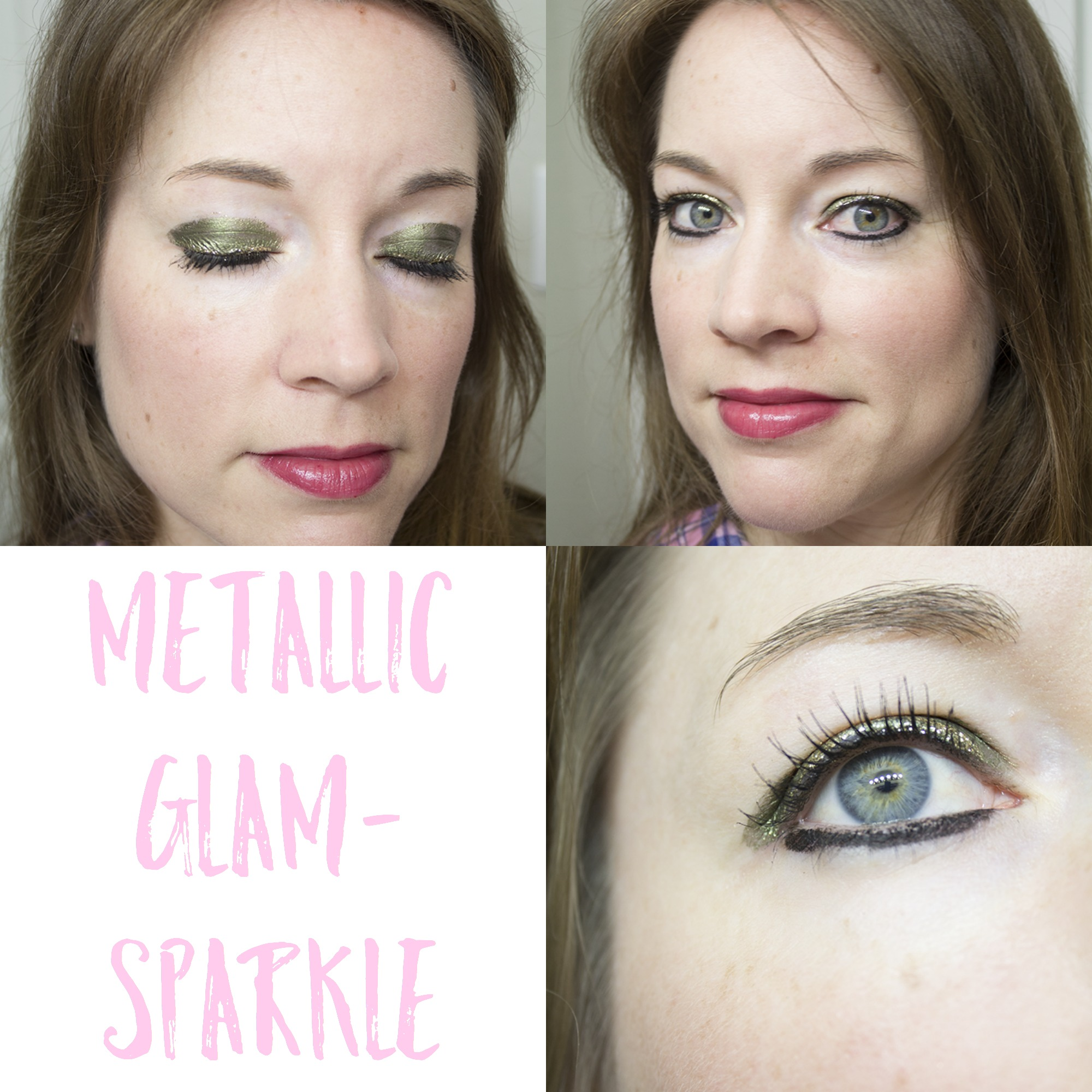 Metallic Glam Sparkle Look