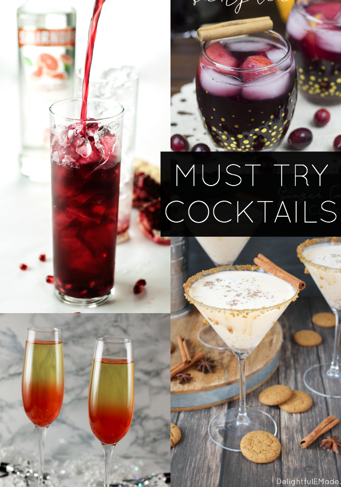 These Must Try Cocktails will be the perfect addition to any party! The hardest decision will be which one to include?!