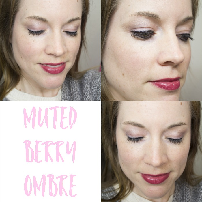 Muted Berry Ombre Look