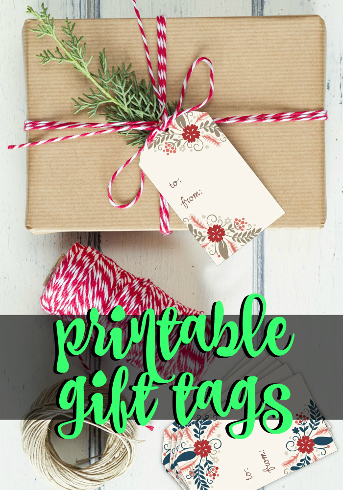 Check out these Free Holiday Printable Gift Tags from Hoopla House Creative!