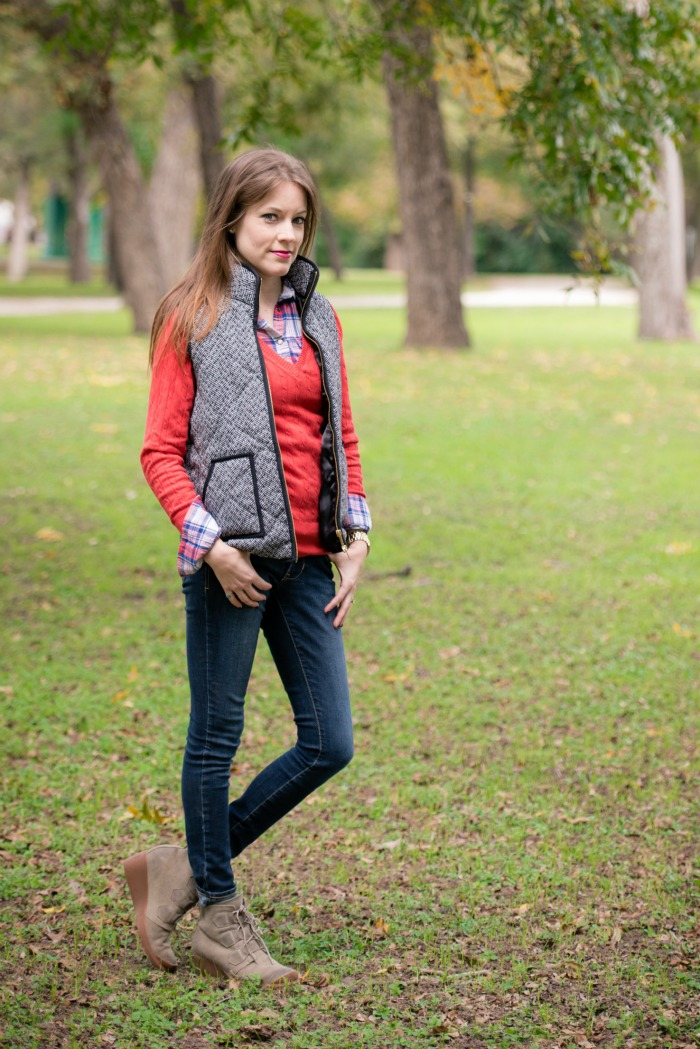 How to Style a Vest with Layers