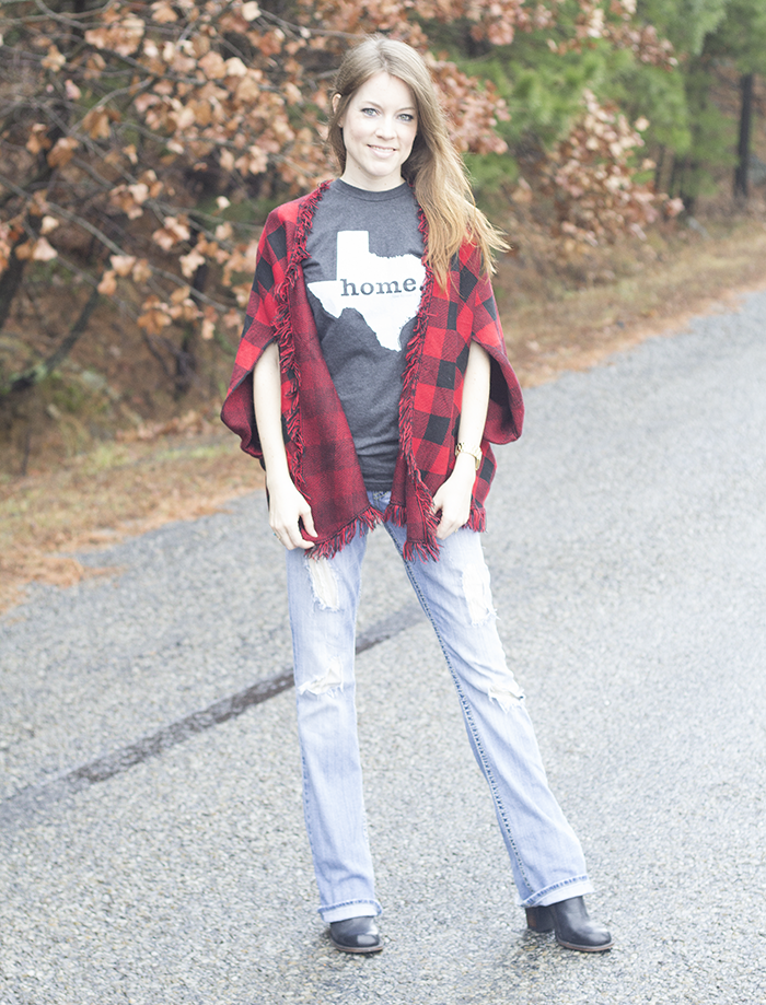Styling The Home T - Texas with Buffalo Plaid