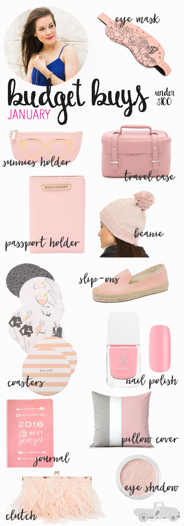 Are you crushing on Rose Quartz??  Which happens to be one of the colors selected as the Pantone Color of the Year for 2016? I know I sure am!! Here are my January Budget Buys Rose Quartz Edition