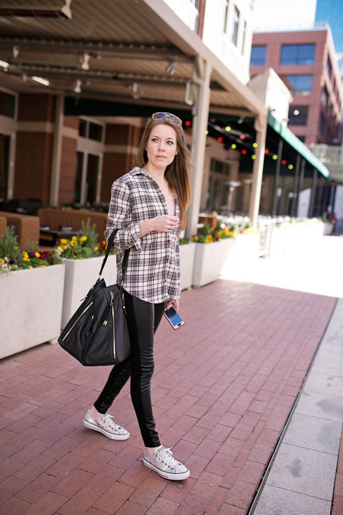 Take a look at how I styled an oversized plaid shirt!