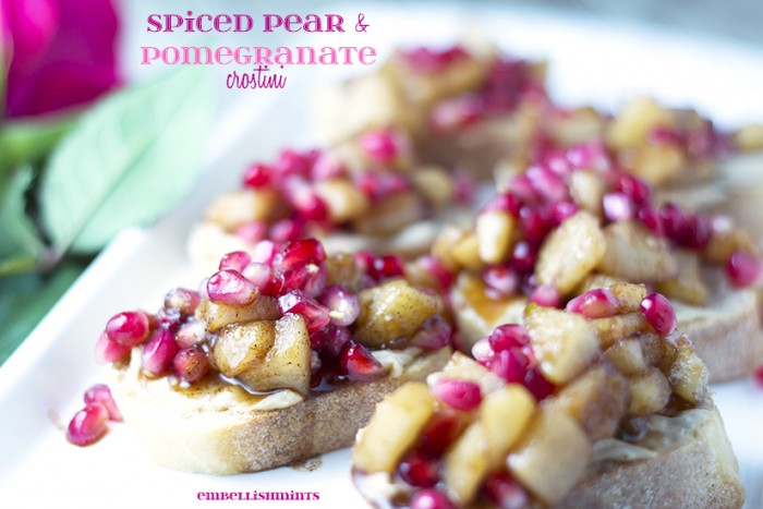 Pear-and-Pomegranate-crostini