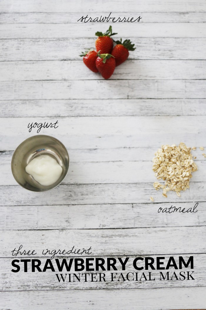 Three-Ingredient-Strawberry-Cream-Winter-Facial-Mask