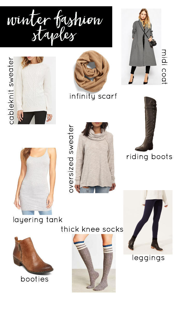 Not sure what you need to complete your winter closet? Check out this list of the Must Have Winter Fashion Staples!