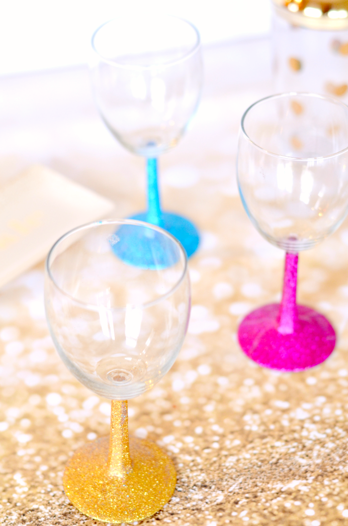 How to glitter wine glasses taylor bradford How to make wine glasses sparkle