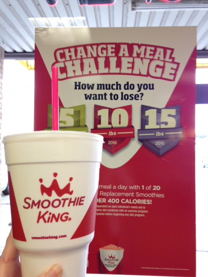Smoothie King #ChangeAMeal Challenge