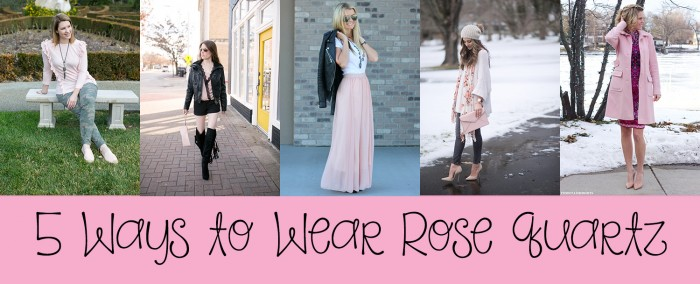 How to Wear Rose Quartz: We're showing you 5 ways to wear Rose Quartz...one of the official Pantone Colors of 2016.