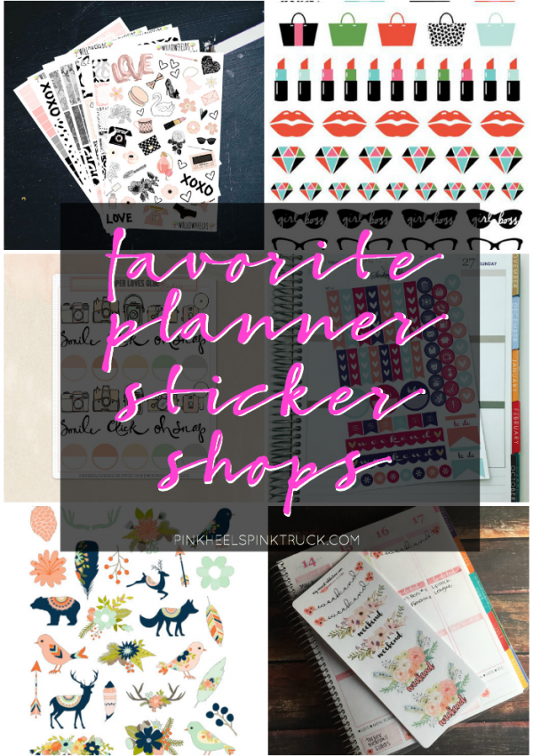 10 Planner Sticker Shops You'll Love