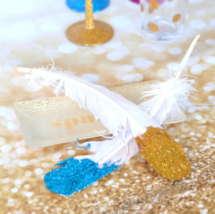 blue-gold-glitter-feathers