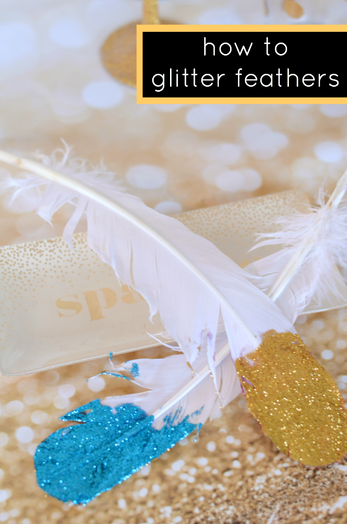 Feather Lovers!! Learn how to glitter feathers in this super simple DIY!