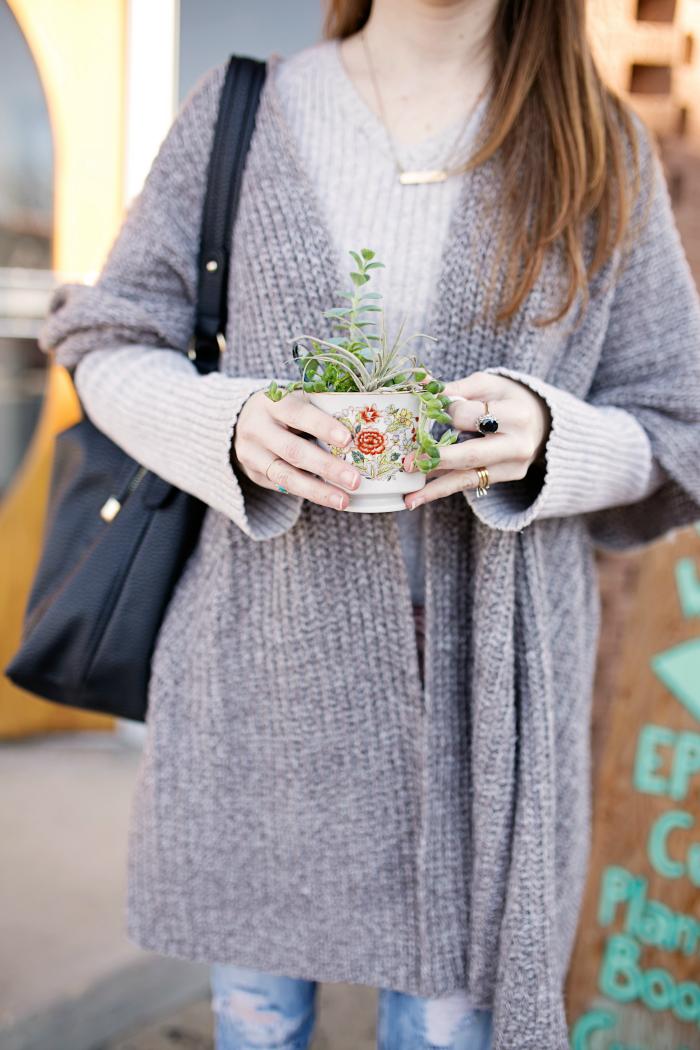 vintage teacup succulent ephemera