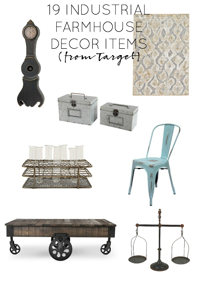 19 industrial farmhouse decor items i want from target. Black Bedroom Furniture Sets. Home Design Ideas