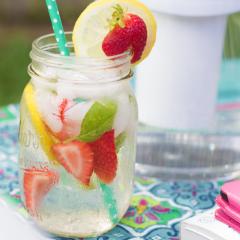 Strawberry, Lemon & Basil Infused Water Recipe