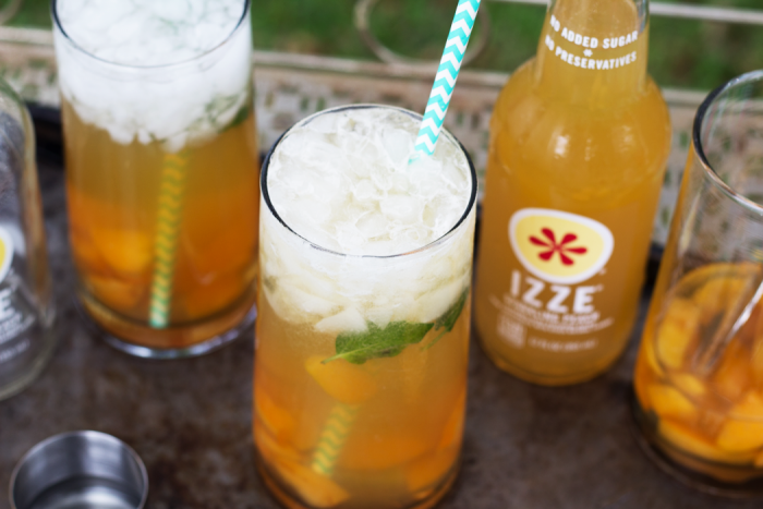 Bourbon Peach & Apricot Smash featuring IZZE®