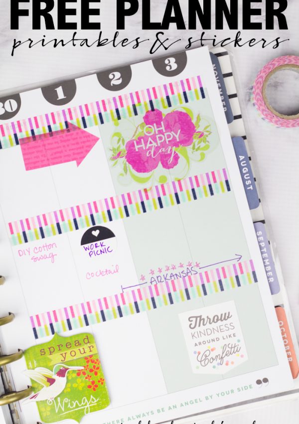 15 Free Planner Printables & Stickers