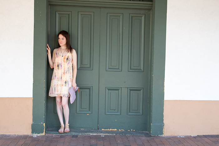 What to Wear in Santa Fe, NM - Summer Dress and Sandals from Target
