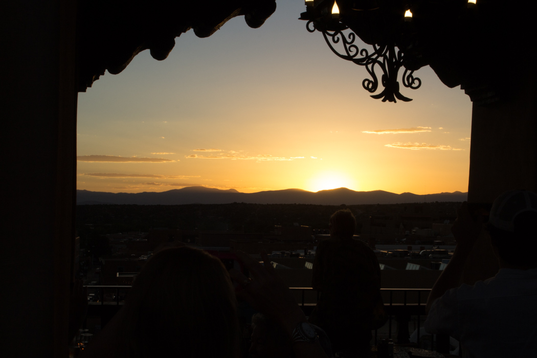 Sunset at the Bell Tower in Santa Fe
