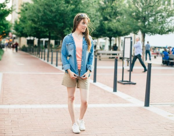 How to Style a Chambray Shirt #CoolerinCotton