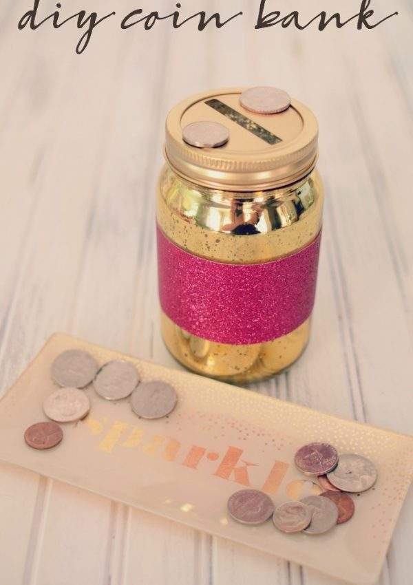 A DIY Coin Bank Full of Sparkle & Shine