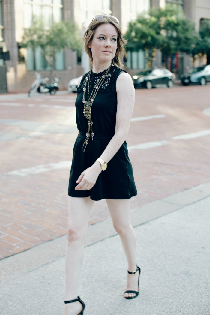 The Most Chic Black Romper Ever!! And it's from Target!