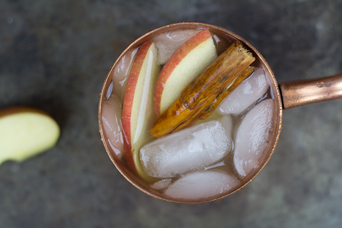 A fall classic...caramel apple. Now make it a Moscow Mule and you'll be enjoying your new favorite fall cocktail!! A Caramel Apple Spice Moscow Mule!