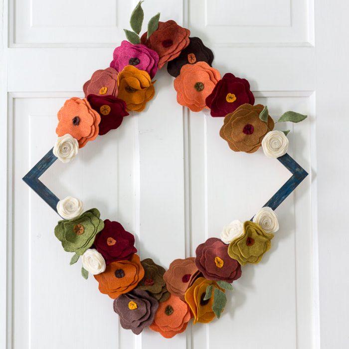 felt-flower-wreath-tutorial-on-white-door-diamond-sq