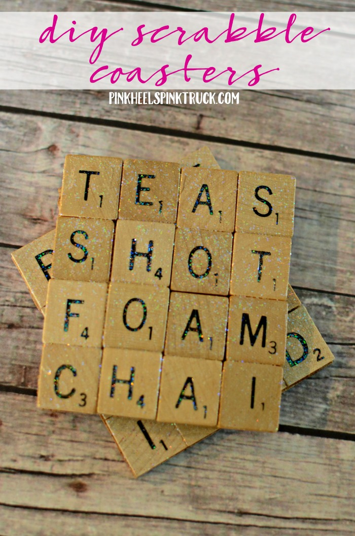 These DIY Scrabble Coasters would make a perfect gift!! Learn how to make them in this post!