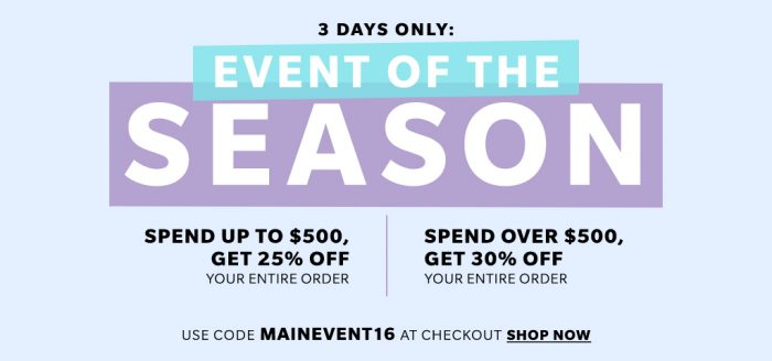Fall 2016 ShopBop Sale