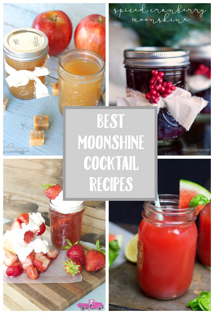 Have you tried a Moonshine Cocktail? I've rounded some amazing Moonshine recipes you must try!! From Caramel Apple Moonshine to Watermelon Basil Moonshine!