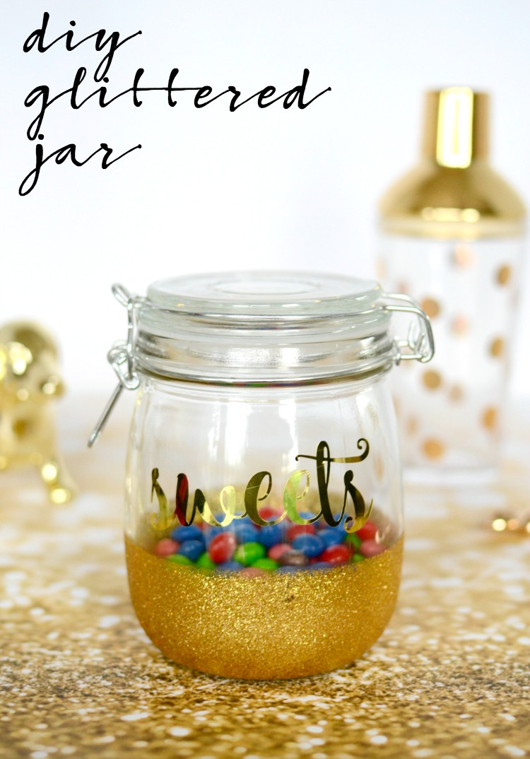 Learn how to make your own diy glittered jar!