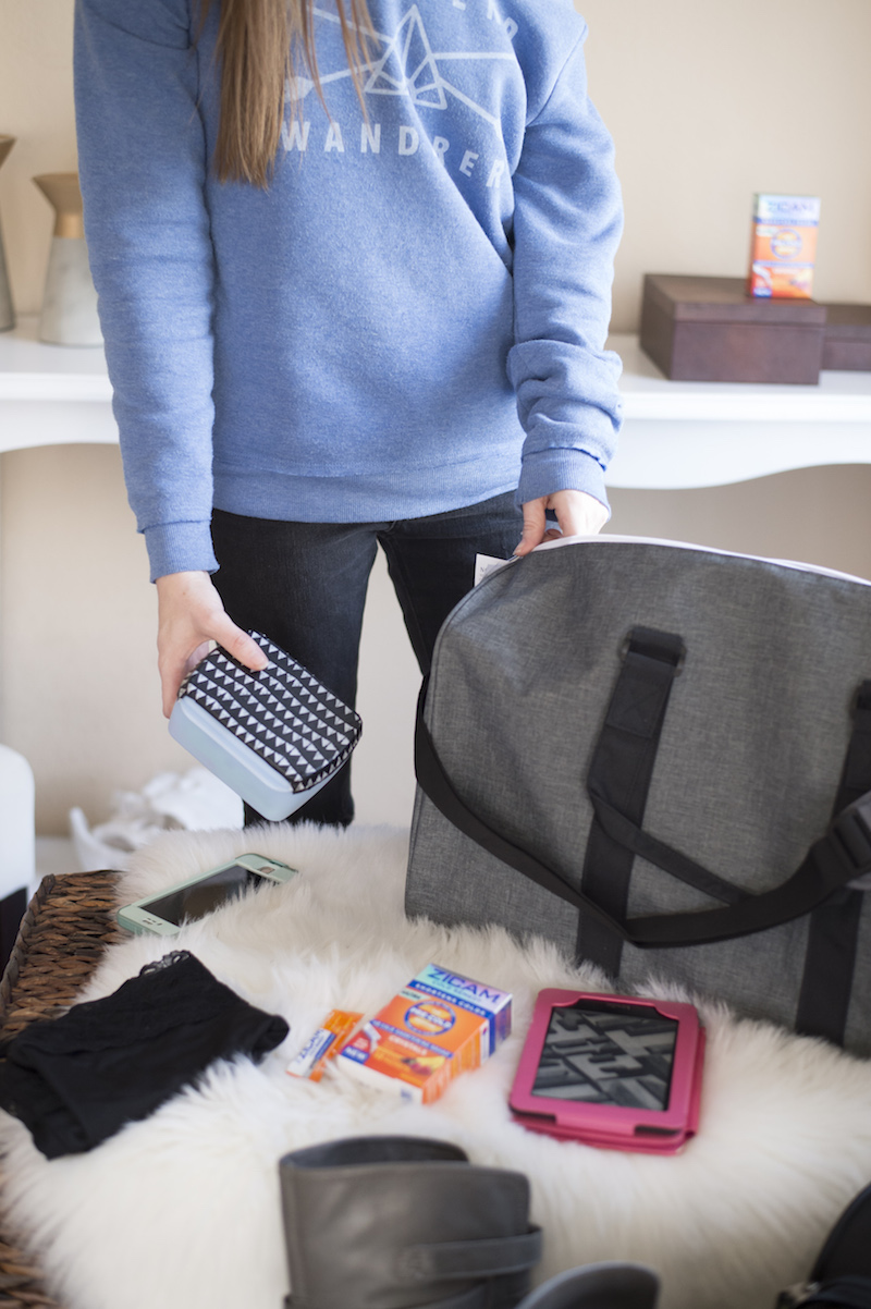 Never leave home without a travel kit! Fill it with some of your might need items! Don't have your own travel kit? Learn how to make one in this DIY Travel Kit post!