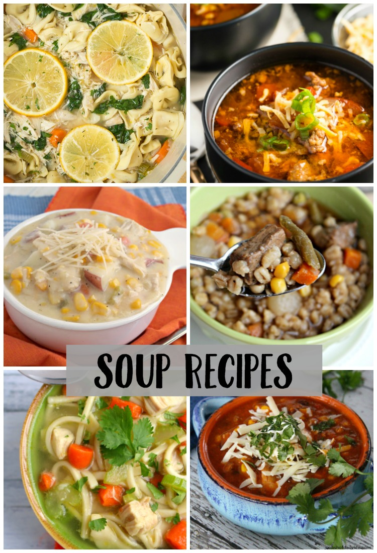 Looking for a new soup recipe to try? I've got a yummy list of some amazing soup recipes for you to try!