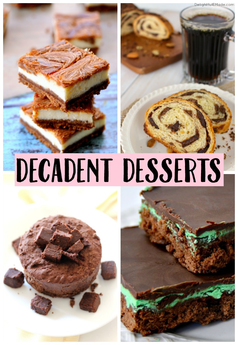 Having a party soon? Maybe a Girls Night In? I've got some decadent dessert recipes for you that you do not want to miss out on!