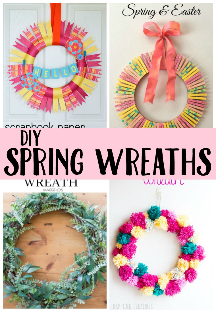 Looking to add a new wreath to your front door? Check out one of these DIY Spring Wreaths!
