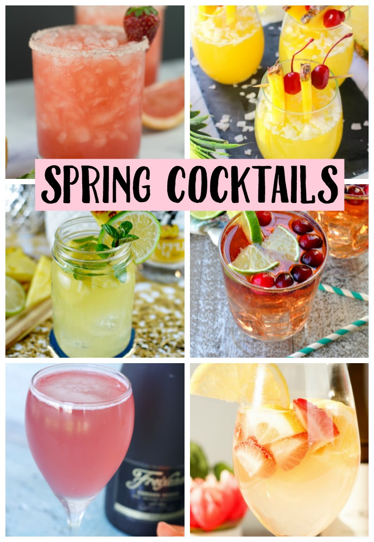 Spring time means time spent outdoors and more cocktails!! Check out this list of Spring Cocktails! Which will you try first??