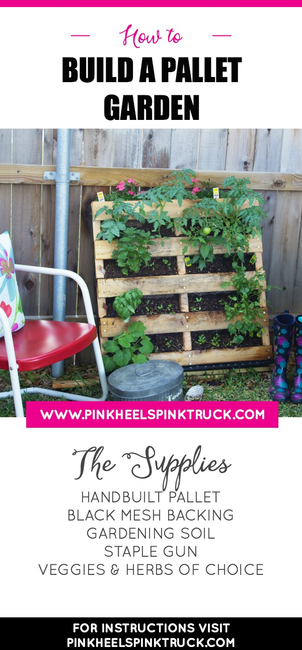 Want a garden but in a small space? Check out this tutorial on how to build a pallet garden!