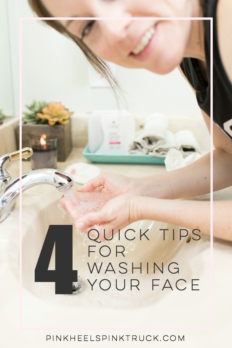 Make washing your face super simple with these quick tips! Number 1 is important!!