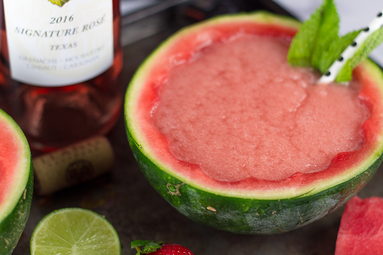Looking for a fun way to enjoy Rosé? How about a Frosé?? Specifically this Watermelon Strawberry Frosé. It's sweet, it's fruity, it's simply delicious. It's a MUST try!!
